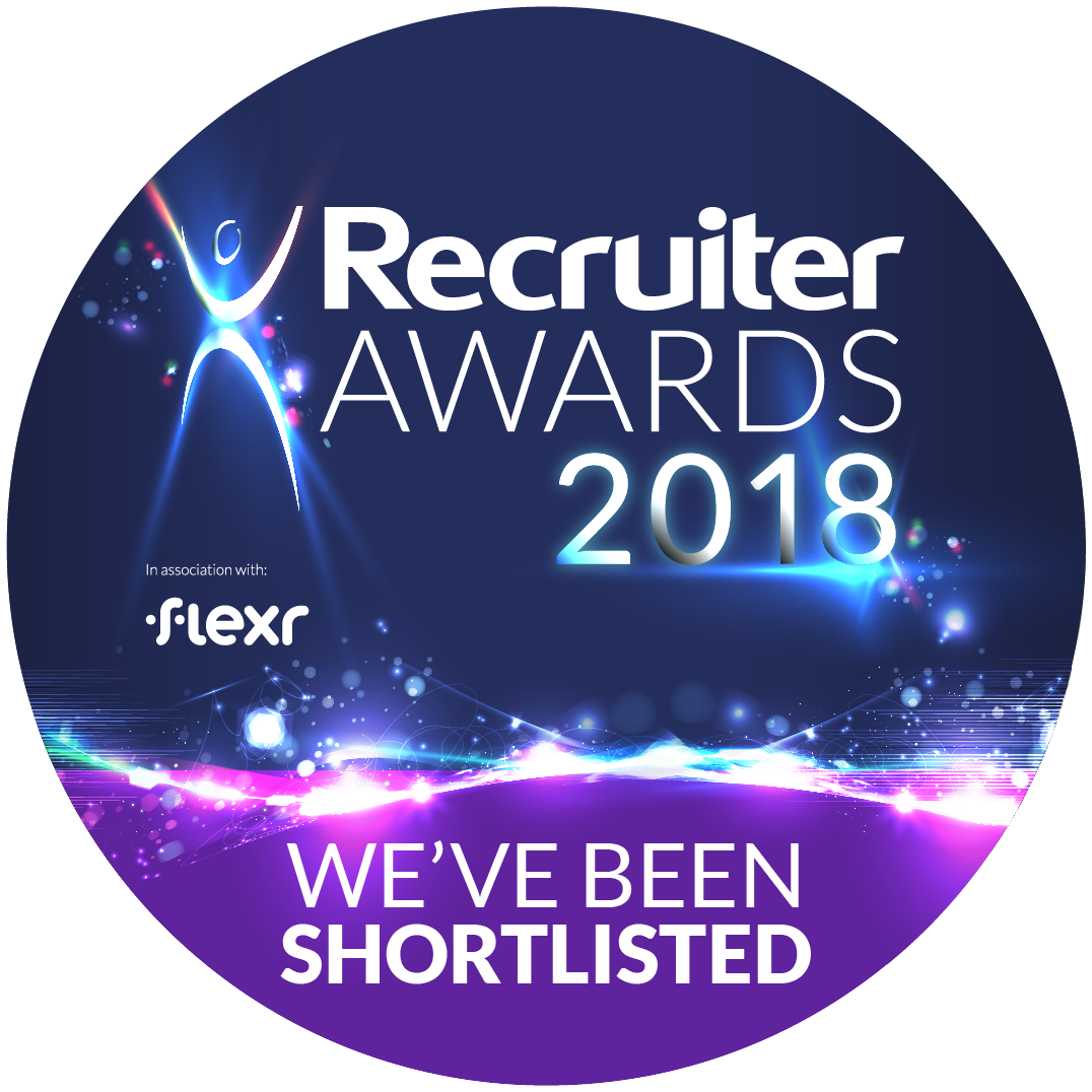 Recruiter Awards18 Official Logo Weve Been Shortlisted